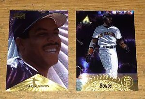 1995/96 Pinnacle Barry Bonds  Museum Collection & Starburst Parallel Cards Mint