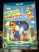 Yoshi's Woolly World + Light Blue Yarn Yoshi Amiibo (Nintendo Wii U, 2016)