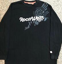 Rocawear Denim Company Long Sleeve Waffle Weave Thermal Black Shirt Size Xl