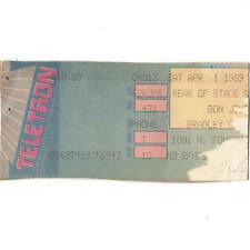 BON JOVI & SKID ROW Concert Ticket Stub MILWAUKEE WI 4/1/89 NEW JERSEY SYNDICATE