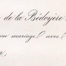 Antoine Huchet De La Bédoyère Denise De Galard De Bearn 1864