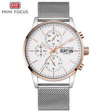 MINI FOCUS MF0180G Men Watch Quartz Stainless Steel Wristwatch Male Watch E6R2