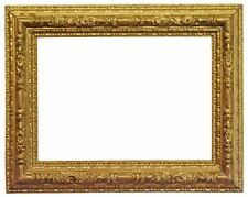 Italian 19th Century Gold Leaf Bull Nose Picture Frame (16x22) (SKU 610)