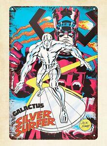 at home decor  comics Fantastic Four Silver Surfer 1960s metal tin sign