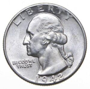Unc BU MS 1942-D - US Washington 90% Silver Quarter Coin Set Break *332