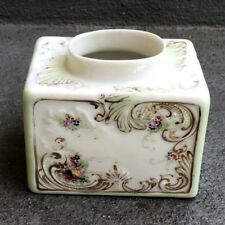 19th CENTURY PORCELAIN TEA CADDY HAND-PAINTED