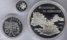 Collection 1, 5 Y 25 Euros 1998 Argent @Infanterie@ avec Étui et Certificats @