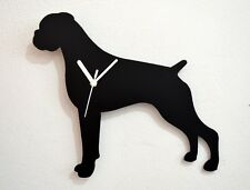 Boxer Dog Silhouette - Wall Clock