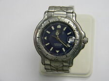 Men's Tag Heuer 6000 Watch Stainless Steel Blue Dial WH1115-K1