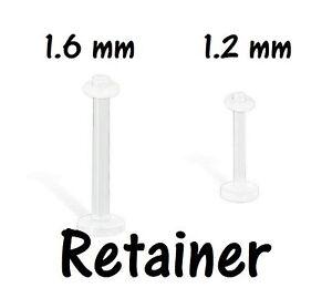 Piercing LANGUAGE eyebrow arch bioplast transparent retainer