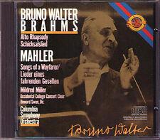 BRUNO WALTER Brahms: alto Rhapsody e Mahler canzoni di un nomadi garzone qualificato CBS CD