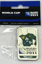 33656 RUGBY WORLD CUP 2011 IRELAND SILVER JERSEY FLAG KEYRING KEY RING