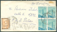 BOLIVIA TO ARGENTINA Cover 1950 NICE!