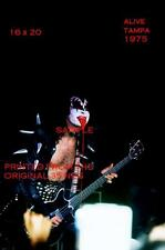 Kiss 1975 Gene Simmons 16 X 20 Color Photo 3 Tampa,FL Spitting Blood