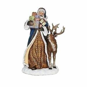 BLue Santa W/Animals & Gifts - 633344A