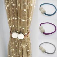 UK Magnetic Curtain Tiebacks Pearl Beads Tie Backs Buckle Clips Holdbacks Home