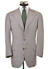 Pal Zileri Sartoriale Gray Glen Plaid Blue Check 130s Wool Sport Coat Jacket 44