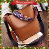 2PCS Women Leather Handbag Crossbody Messenger Shoulder Bag Bucket Satchel