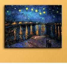 Canvas Art Print Wall Hd Painting Van Gogh Starry Night Picture Hanging Decor