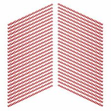 50x American Diner Style Red & White Striped Reusable Drinking Straws