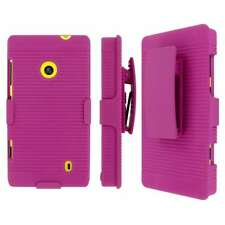 MPERO Collection 3 in 1 Tough Hot Pink Kickstand Case for Nokia Lumia 521