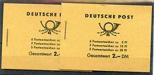 Weeda East Germany DDR 330c, 333a, 477b VF booklets, both perf types CV $30+