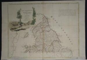NORTHERN ENGLAND WALES 1778 ANTONIO ZATTA  ANTIQUE ORIGINAL COPPER ENGRAVED MAP
