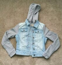 Girls YMI Jeans Blue Denim Jacket Small Removable Hood EXCELLENT CONDITION
