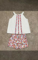 Janie and Jack Pretty In Panama Set 3T 4T Tank top and Shorts Girls