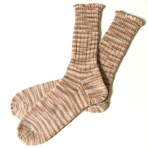 7 8 9 M L Hand Knitted Hand Knit Handmade Women Tall High Boots Socks Pink Wool