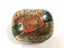 CALIFORNIA NUGGET Chop Cut Tobacco Tin || EMPTY Packaging