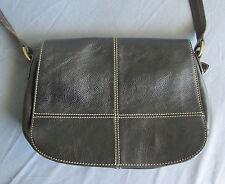 """Jones New York Black Leather Bag 37"""" Shoulder Strap Handbag Purse Nice PRE-OWNED"""