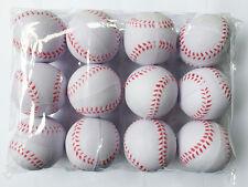 12PCS Sport Training Baseball Elastic PU Foam Base balls Softball White New