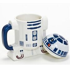 STAR WARS R2-D2 CHARACTER MUG WITH LID GIFT OFFICIAL MERCHANDISE FREE P+P