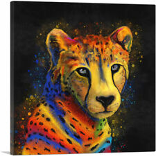 Artcanvas Cheetah Africa Savannah Cat Canvas Art Print