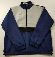 New Fort De Fashion Men's Windbreaker Jacket 3XL Multicolor Half Zip Pockets