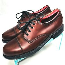Bass & Co. Webster MENS Size 10 M Cap Toe Lace Up Oxford Brown 1802-200   Sh1