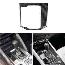 LHD Car Carbon Gear Shift Knob Panel Sticker Trim Fit For Mazda CX-5 2017 2018