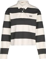 Levi's® Letterman Rugby W longsleeve polo white black striped shirt MSRP $69.50