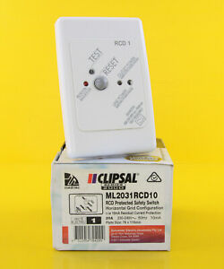 Clipsal ML2031RCD10 RCD Protected Safety Switch 240VAC White - Engraved RCD 1