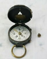 Vintage Swiss Made US Engineer Corps Brass Military Field Compass #21509 SN