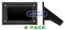 "2 Pieces 5.25"" x 3.5"" DJ Speaker Box Black Plastic Pocket Handles Enclosure"