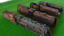 4x Rusty  /Abandoned Steam Locomotives N scale /1:160 for diorama