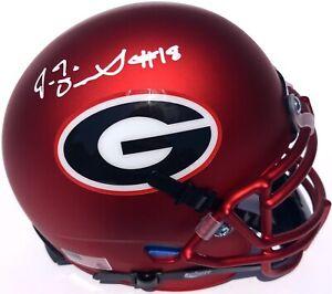JT J.T. DANIELS #18 GEORGIA BULLDOGS SIGNED MINI FOOTBALL HELMET PSA/DNA