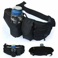 Waist Water Bottle Holder Bum Bag Pack Hiking Cycling Sport Hip Punch Belt Purse