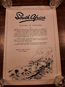 1928 Bellyboard surfing poster ORIGINAL advert from The Ilustrated London News