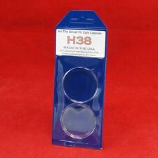 AirTite Direct Fit Coin Holder Capsules - Individual Retail Pkg Model H38 Qty 2
