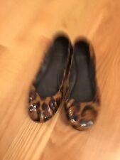Tory Burch Womens Mini Leopard Print Ballet Flats, Size 10