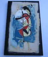 LARGE MIRO STYLE  PAINTING ABSTRACT EXPRESSIONIST MODERNISM   SURREALISM SPIRIT