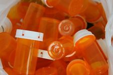 Plastic Medicine Pill Bottles with Lids LOT of Approximately 100 Craft Crafting